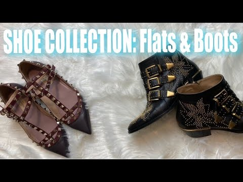 LUXURY & DESIGNER SHOE COLLECTION: Flats & Boots | Valentino, Givenchy, Chloé, Burberry