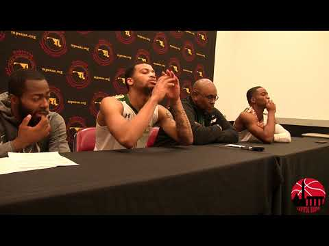 Milford Mill Press Conference after loss to Poly in MD 3A State Championship 3/10/18