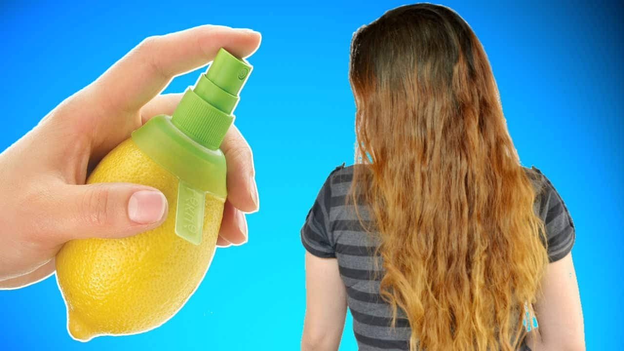 How To Bleach Your Hair With Lemon Juice Youtube