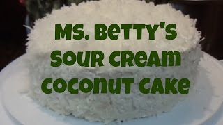 Vinnie&#39s Vittles Ms. Betty&#39s Sour Cream Coconut Cake