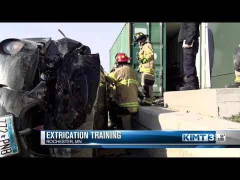 Firefighters train using life-saving equipment