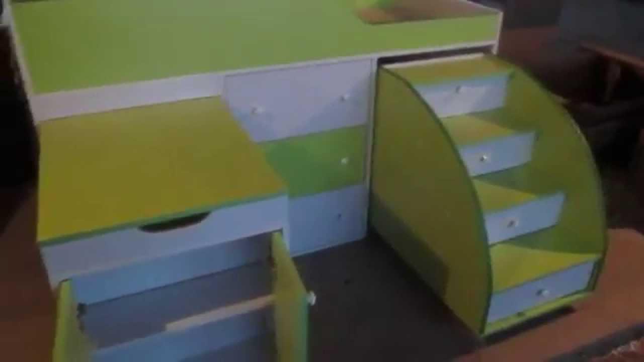 Кровать чердак Фанки (кровать замок Фанки Хоум) - YouTube
