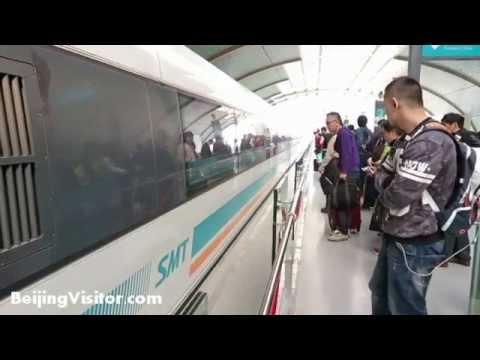 Shanghai Maglev Train Ride - Pudong Airport to Shanghai & Back