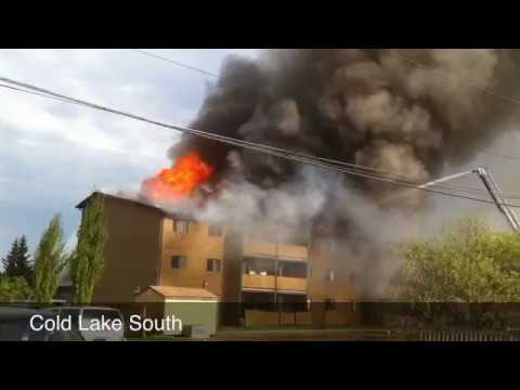 Fire In Cold Lake, AB