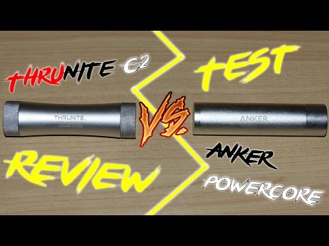 ThruNite C2 Power Bank VS Anker Core+mini Review Teil 2/2 | HD+ | Deutsch