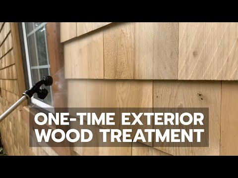 One time exterior wood treatment youtube - Cedar wood preservative exterior ...