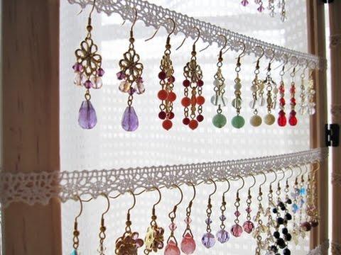 【DIY】100均でおしゃれでかわいいピアス収納をハンドメイドしちゃおう♡~Fashionable and cute earrings storage.