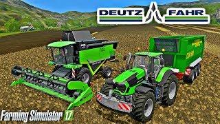 Harvest Wheat With Deutz-Fahr Tools Farming Simulator 17 Mods