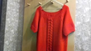 Вязание спицами/ джемперок / футболка /  туника регланом сверху