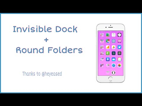 Wallpaper Glitch Invisible Dock Round Folders Thanks To Heyeased