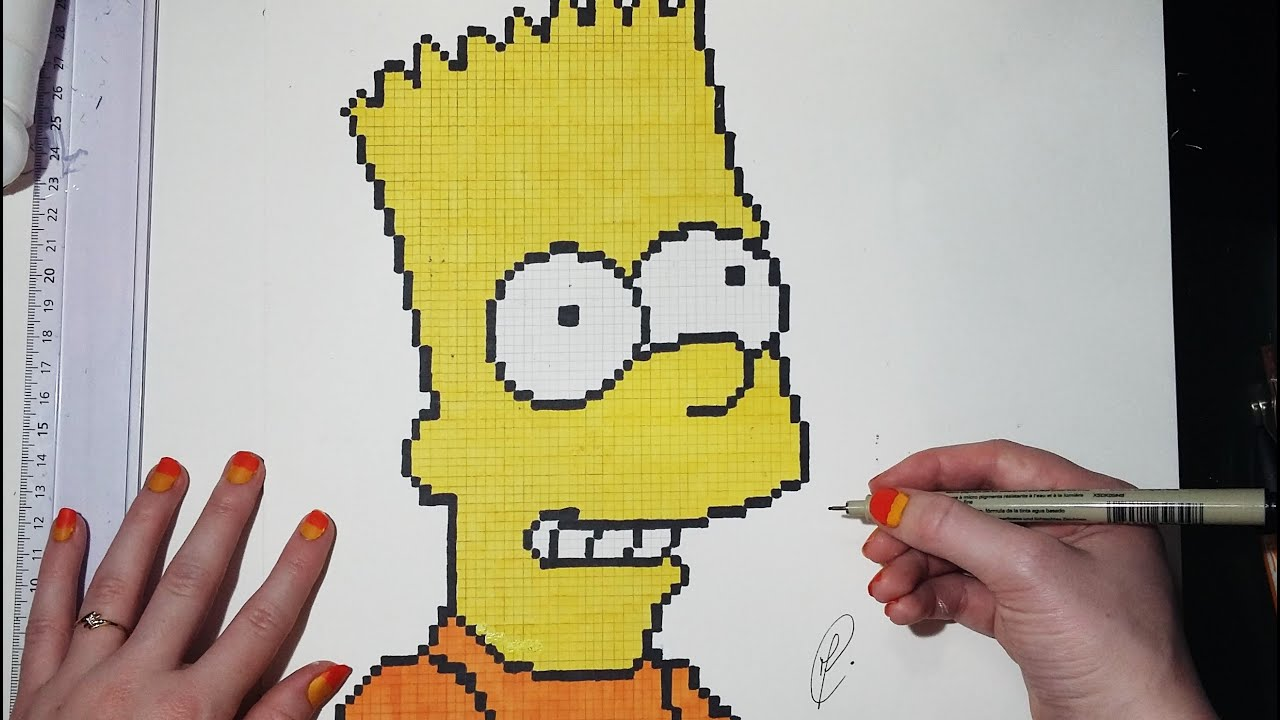 Epic Pixel Art Bart Simpson