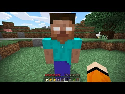 I FOUND HEROBRINE On This Seed In Minecraft Pocket Edition