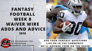 Week 8 Fantasy Football Waiver Wire Advice   Top NFL Fantasy Week 8 Waiver Wire Adds
