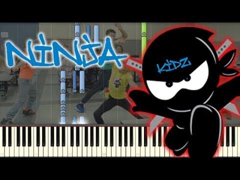 🎵 Being Awesome! - Ninja Kidz Music Video [Piano Tutorial]