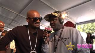 Big Tigger on Red Carpet For BET Hip Hop Awards With V-103