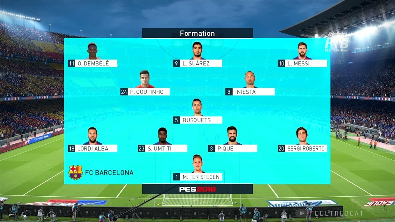 0c0d120bd37 BARCA Line up 2018 with Philippe Coutinho