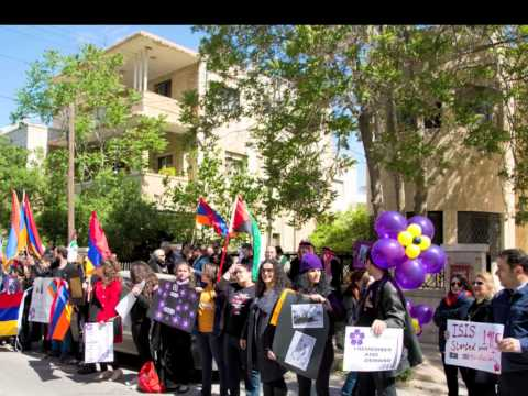 Armenian Genocide Centennial Protest turkish embassy Amman Jordan