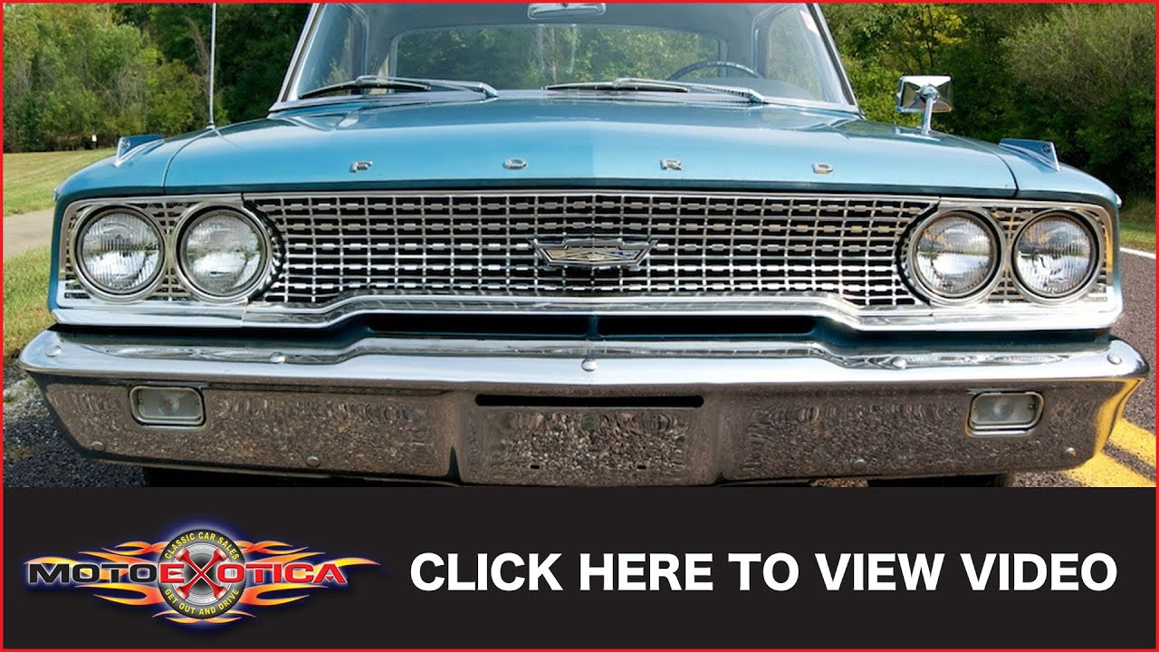 1963 Ford Galaxie 500 SOLD  YouTube