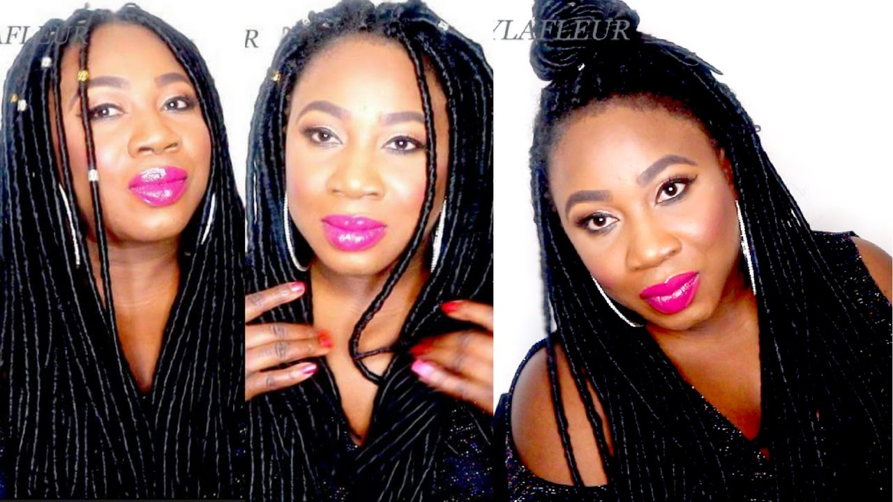 How To Faux Locs Individual Crochet Braids Under £ 20no Wrapping No  Cornrows