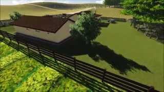 Wizualizacja indywidualnego projektu domu z budynkiem gospodarczym