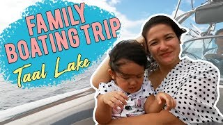 Boating in Taal Lake with the Family | Camille Prats