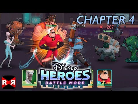 Disney Heroes: Battle Mode - CHAPTER 4 - iOS / Android - Walkthrough Gameplay