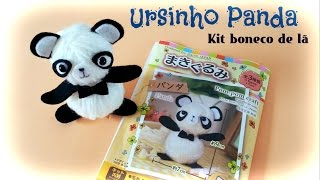 Tutorial Ursinho Panda – Kit Boneco de lã – [ Daiso ] Carla Fernanda