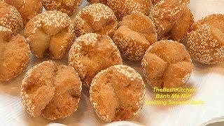 Cách Làm Bánh Mè Nứt Giòn Xốp  _ Bánh Rán Vừng công thức Tiếng Việt