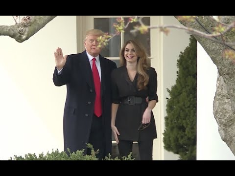 Trump bids farewell to Hope Hicks, the outgoing White House communications director