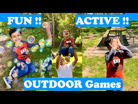 Arko and Dad Play Active and FUN Outdoor Games | Outdoor Games and Activities for kids