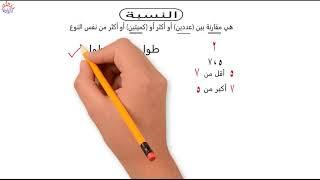 رياضيات ستة ابتدائي ترم اول - الدرس الاول - النسبة