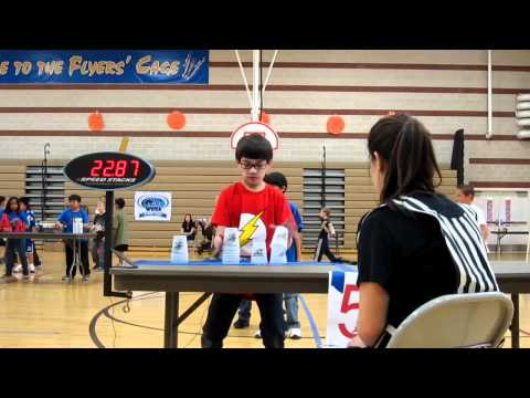 """WSSA Forbuss Elementary Sport Stacking Tournament"" : Relay Race (Speed Demons)"