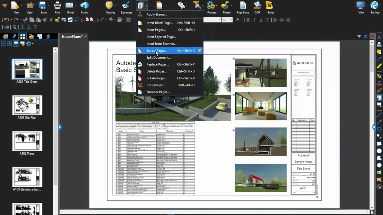 Tech Tip: Splitting PDF documents with Bluebeam Revu