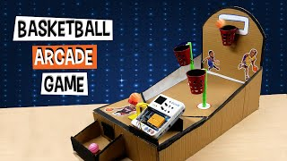How to Make Your Arcade Basketball Game Using Cardboard | DIY Projects