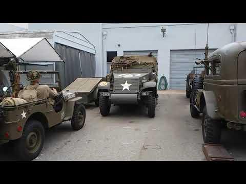 Santa Barbara ww2 Halftrack VETERAN'S DAY MEMORIAL DAY military vehicles DRIVING