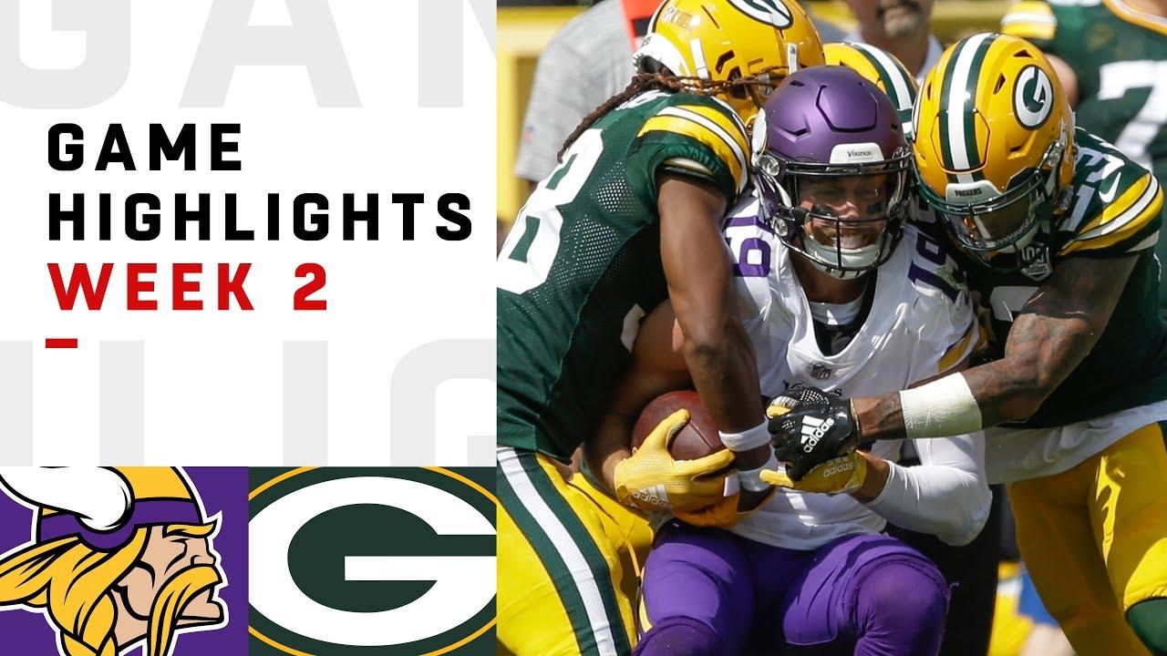 Vikings Vs Packers Week 2 Highlights Nfl 2018