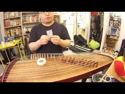 Self Taught Guzheng - Taping the Nails and Setting Up The Guzheng Strings