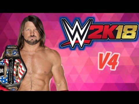 WR3D WWE 2K18 MOD V4 BY THE NEXT Video Download MP4 3GP FLV