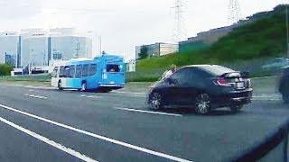 Road rage incident leaves man clinging to speeding car hood on major highway