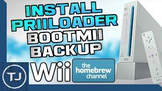 Wii How To Install PriiLoader & Create BootMii NAND Backup! (Black Screen Fix!) 2017!