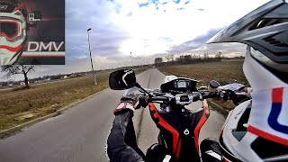 Ride the Husqvarna SMS 630 2010  - Arrow Exhaust - Learning to wheelie