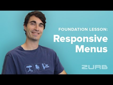 Foundation Lesson 143 - Create Modular Responsive Menus With Foundation 6