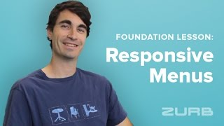 Foundation Lesson 143 - Create Modular Responsive Menus with Foundation 6