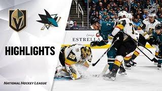 Golden Knights @ Sharks 10/04/19 Highlights