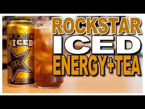 NEW! Rockstar ICED, Energy+Peach Tea