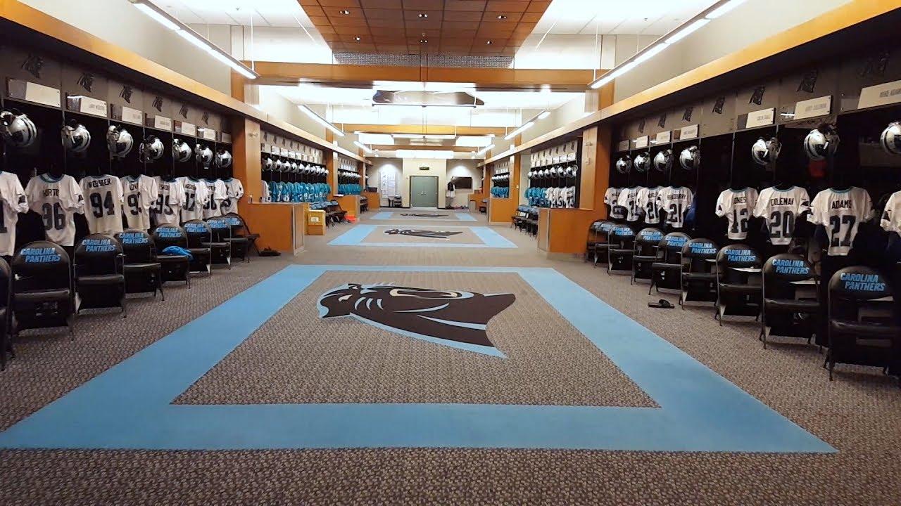 Carolina Panthers Locker Room Tour