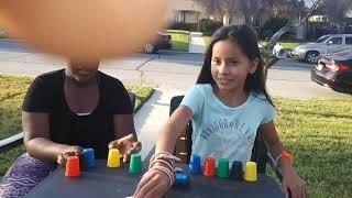 A fun board game of quick cups
