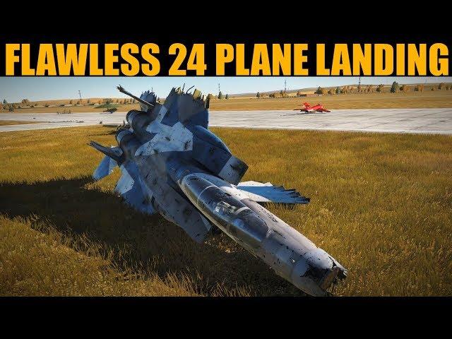BEAUTIFUL 24 Plane Formation Landing   DCS WORLD