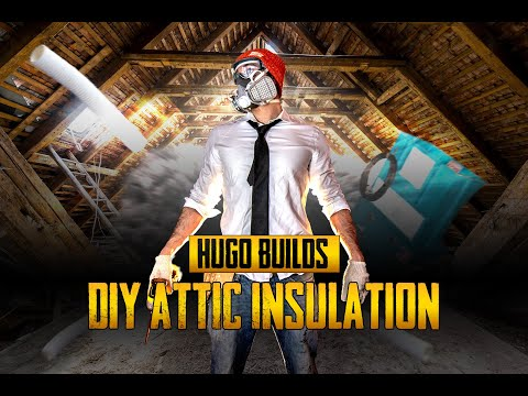 How to Install Attic Insulation: Blown-in Cellulose using Home Depot Rental Machine (DIY 2019)