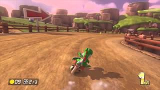 Mario Kart 8 150cc - Yoshi on the Yoshi Bike in Yoshi Valley